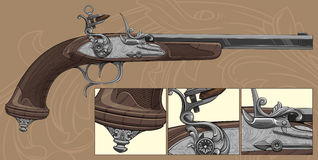 Flintlock pistol Royalty Free Stock Photography