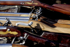 Flintlock rifle with Royalty Free Stock Photo