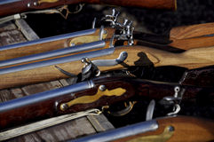 Flintlock rifle with Stock Image