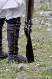 Flintlockgewehr mit Lizenzfreie Stockfotografie