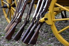 Flintlockgewehr mit Stockfotos