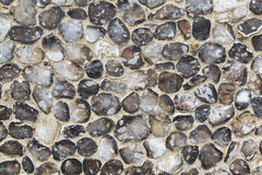 Flints in wall. Stock Images