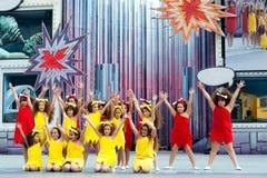 Flintstone dance group Stock Image