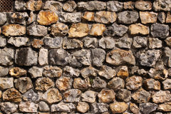 Flintstone wall Royalty Free Stock Image