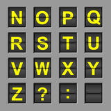 flip доски алфавита Стоковое Изображение RF