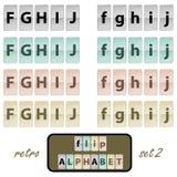 Flip alphabet set 2 Stock Photos