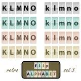 Flip alphabet set 3 Royalty Free Stock Images