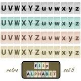 Flip alphabet set 5 Stock Photos