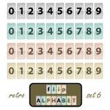 Flip alphabet set 6 Stock Image