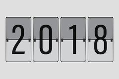 Flip Board Happy New Year 2018 lizenzfreie abbildung