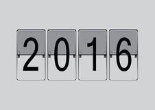 Flip board 2016. 2016 new year analog calendar countdown flip board Stock Photo