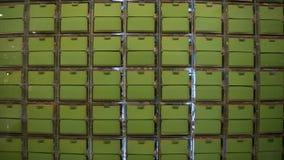 Flip Board Plastic Advertiser verde fotos de stock royalty free