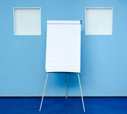 Flip chart. In conference room at hotel ready for business training Royalty Free Stock Photos