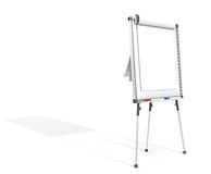 Flip Chart. Side view of a Flip Chart and 2 marker pens. White for copy space. Hard Shadow Stock Photos