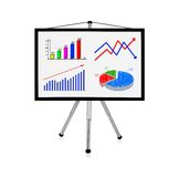 Flip chart with charts Stock Photo