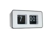Flip Clock. A flip clock against a red background royalty free stock photo
