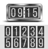 Flip clock Royalty Free Stock Images