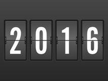 Flip clock 2016 Stock Photography
