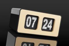 Flip Clock d'annata rappresentazione 3d Immagini Stock Libere da Diritti