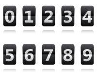 Flip clock. Flipping panel Stock Image