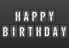Flip clock happy birthday Royalty Free Stock Images