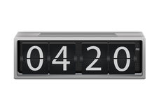 Flip clock. Lip clock vector. The numbers are easy to replace with another numbers Royalty Free Stock Image