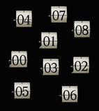 Flip clock numbers Royalty Free Stock Image