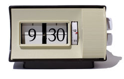 Flip clock numbers. Different numbers from an old flip style clock arranged in order Royalty Free Stock Photography