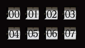 Flip clock numbers Stock Photo