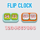Flip clock with numbers -  Royalty Free Stock Image