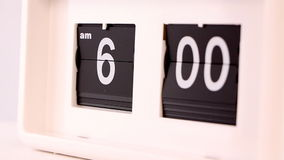 Flip clock stock footage
