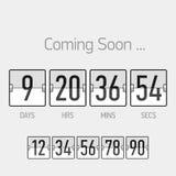 Flip Coming Soon, chronométreur de compte à rebours illustration libre de droits