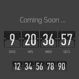 Flip Coming Soon, contador de tiempo de la cuenta descendiente Imagen de archivo