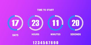 Flip countdown clock counter timer royalty free illustration