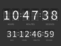 Flip countdown timer, hourly schedule Royalty Free Stock Images