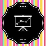 Flip-diagram projektionsskärm med en graf royaltyfri illustrationer