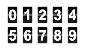 Flip Down Numbers. This is a  illustration of numbers called flip down used in mechanical alarm clocks of the 70's and 80's Stock Photography