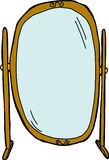 Flip Dressing Mirror Royalty Free Stock Images