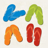 Flip Flop Abstract Icons Royalty Free Stock Photos