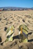 Flip-flop alla spiaggia Immagine Stock