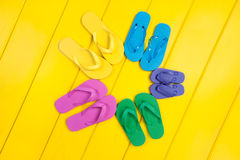 Flip Flop Assortment Stock Photos