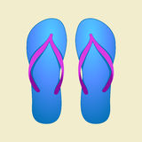 Flip-flop azules Fotos de archivo