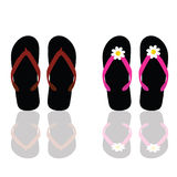 Flip flop for beach for man and woman Royalty Free Stock Images