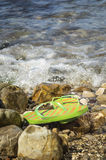 Flip flop on the beach Royalty Free Stock Photos