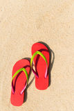 Flip flop on beach Royalty Free Stock Image