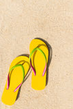 Flip flop on beach Stock Photos