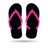Flip flop in black color illustration Royalty Free Stock Photo