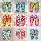 Flip Flop collection Royalty Free Stock Photo