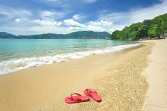 Flip-flop della spiaggia Fotografie Stock Libere da Diritti