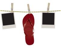 Flip-flop della spiaggia su una corda royalty illustrazione gratis